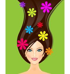 summer girl vector image vector image