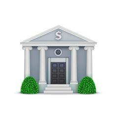 bank icon vector image
