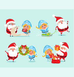 happy new year list of gifts vector image vector image
