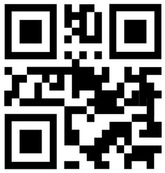 qr code says FREE TRIAL vector image vector image