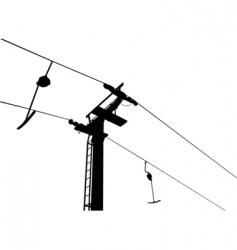ski lift vector image