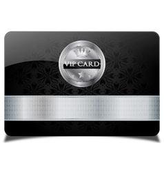 Black vip card vector image vector image
