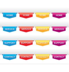 Color set of navigation labels vector image