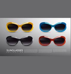 Fashionable modern sunglasses set vector