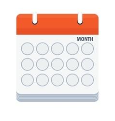 month calendar icon vector image