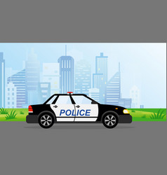 police patrol car on modern vector image