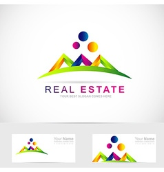 Real estate abstract logo vector image vector image