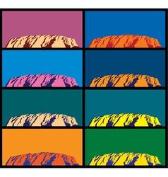 Ayers Rock vector image