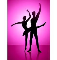 Ballet dancing vector
