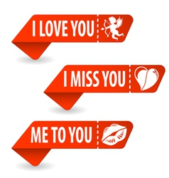 Collect Valentines Day Signs vector image vector image