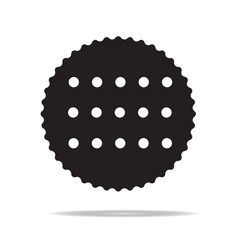 cookie icon vector image