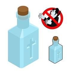 Holy Water bottle against vampires Ban Dracula vector image vector image