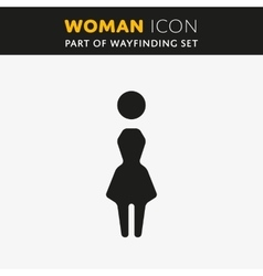 Woman Icon vector image vector image