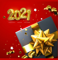 2021 happy new year vector image