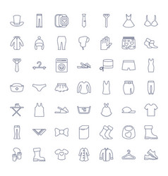 49 clothing icons vector