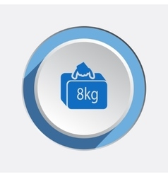 Baggage icon Hand luggage for traveling Airport vector image