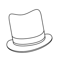 Black line tophat vector