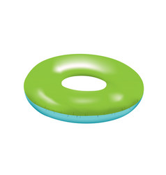 Blue and green swim ring vector