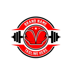 boxing sports logo vector image