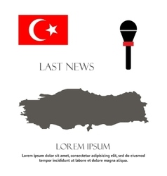 Breaking news turkey design vector