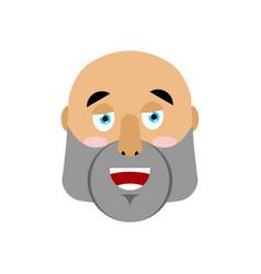 Brutal man happy emoji men face merry emotion vector