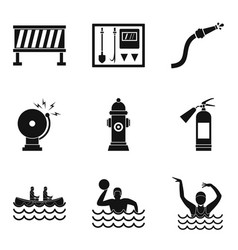 Business crew icons set simple style vector