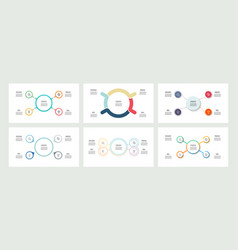 Business infographics organization charts with 4 vector