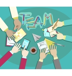 Business team meeting flat design vector image