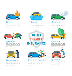 car insurance auto service vector image