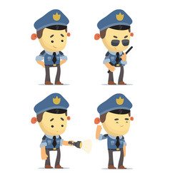 Cartoon policemen vector