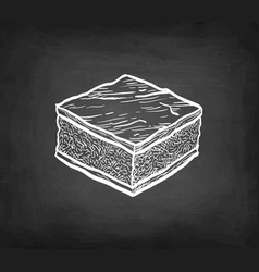 chalk sketch chocolate brownie vector image