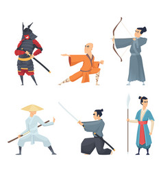 china fighters traditional eastern heroes emperor vector image