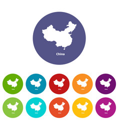 china map icon simple style vector image