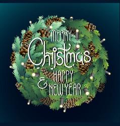 christmas circular design vector image