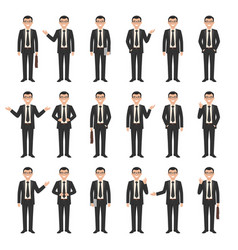 Collection a young businessmen vector
