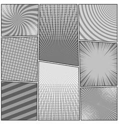 comic book monochrome background vector image