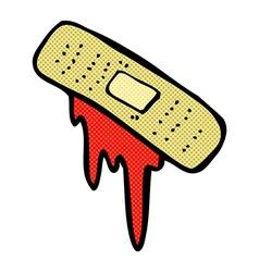 comic cartoon bloody plaster vector image