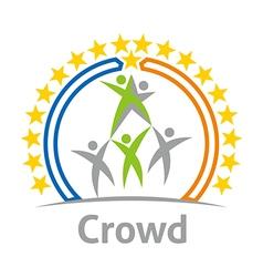 Crowd community celebration children design vector
