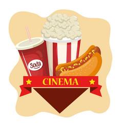 delicious cinema food menu vector image