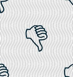 Dislike sign icon Thumb down Hand finger down vector image