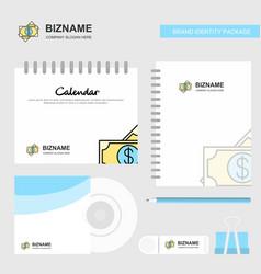 dollar logo calendar template cd cover diary and vector image