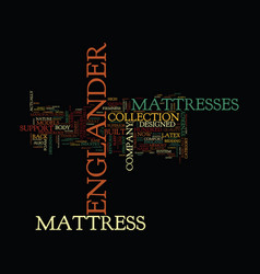 Englander mattress text background word cloud vector