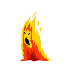 Fire monster cartoon character fantasy creature vector