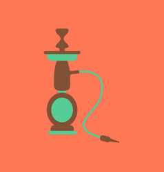 Flat icon on stylish background eastern hookah vector