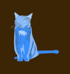 Flat shading style icon cat vector