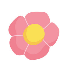 flowers petal flourish decoration icon vector image