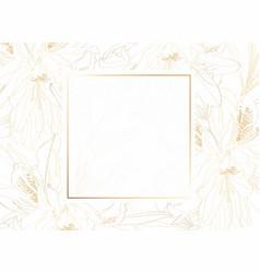 golden greeting invitation card template design vector image