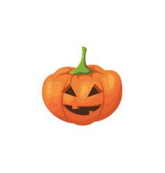 halloween scary pumpkin vector image
