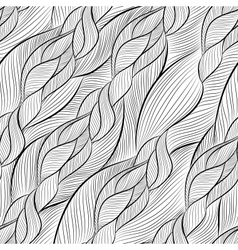 hand-drawn pattern with waves vector image