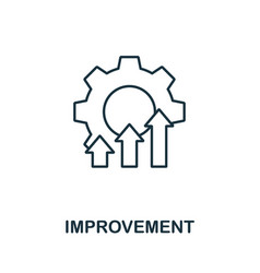 Improvement icon outline style thin line creative vector